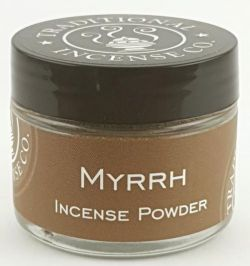 Myrrh Incense Powder -20gm Glass Jar