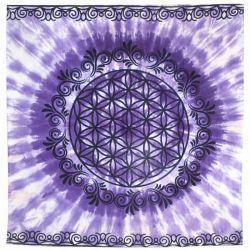 ALTAR CLOTH – Flower of Life Purple 90x90cm