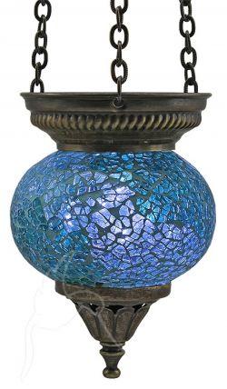 Turkish Mosaic Hanging Tealight - Small - Ocean Blue