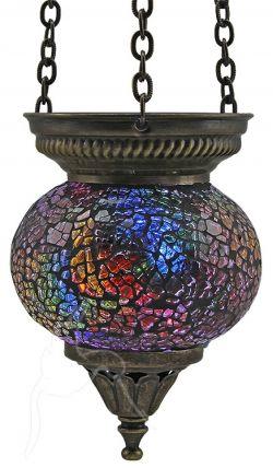 Turkish Mosaic Hanging Tealight - Small - Rainbow