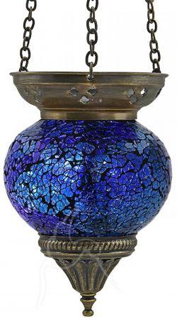 Turkish Mosaic Hanging Tealight - Medium - Blue