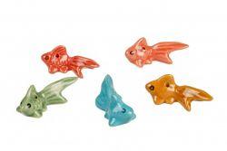 Ceramic BLUE Goldfish 6cm