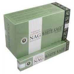 Golden Nag WHITE SAGE Masala Incense