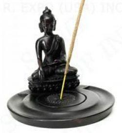 Resin incense holder, Buddha