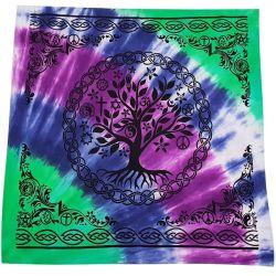 ALTAR CLOTH – TREE OF LIFE MULTI FAITH COTTON 100X100CM