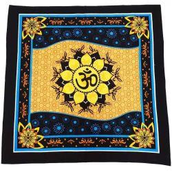 ALTAR CLOTH – Om Lotus Cotton 100x100cm