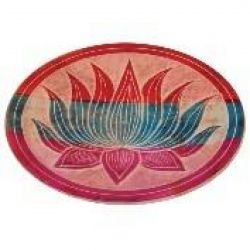 Lotus Multi Colour Carved Stone Incense Plate