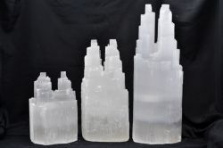 Selenite Twin Lamps Small Approx 20cm