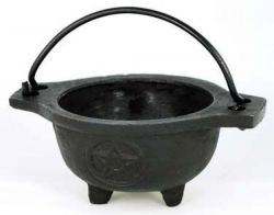 Cauldron Black Pentagram Open Dish Design Small