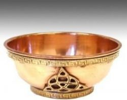 Copper Triquetra Bowl 8cm