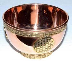 Copper Flower Of Life Bowl 8cm