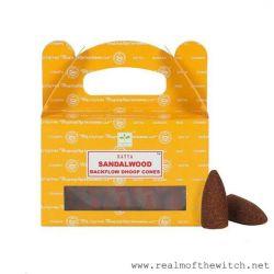 Satya Cones Backflow SANDALWOOD