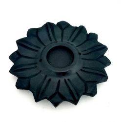 Incense & Cone Holder Black Stone LOTUS