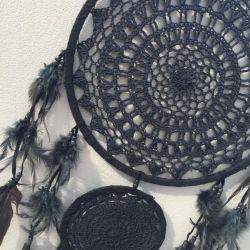Black Crochet Dreamcatcher