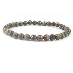 DRAGON BLOOD JASPER 6MM Bead Bracelet