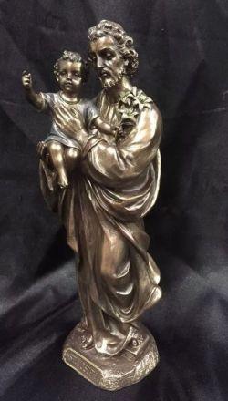 SAINT JOSEPH Holding Baby Jesus Statue 20cm H