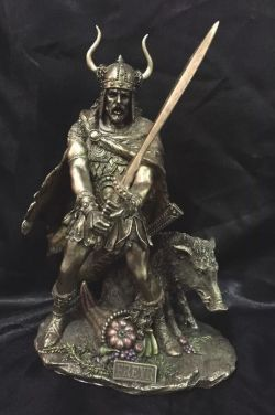 FREYA Norse God Bronze  Statue  28Cm H