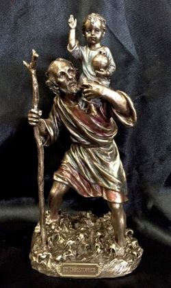 SAINT CHRISTOPHER  Statue 22Cm Tall