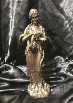 HYGIEIA Greek Goddess Of Health Bronze Cold Cast Coated Statue 27cm H