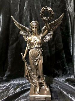NIKE Greek Goddess Bronze Cold Cast Coated Statue 34cm Tall
