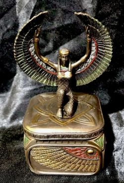 ISIS Egyptian Goddess Trinket Box 11.5cm H