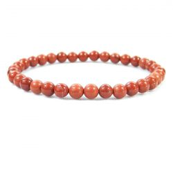 RED JASPER 6MM Bead Bracelet, size 6.5""