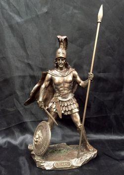 MARS Greek God Bronze Cold Cast Coated Statue  33cm H