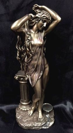 APHRODITE Greek Goddess Bronze Cold Cast Coated Statue 29cm H