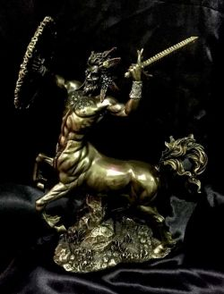 CENTAUR Greek God Bronze Coated Cold Cast Statue  29cm High