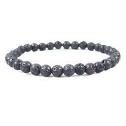 LAVA ROCK 6MM Bead Bracelet, size 6.5""