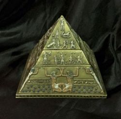 PYRAMID EGYPTIAN 4 Layer Trinket/ Jewellery Box 11cm H